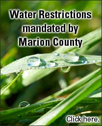 Water restrictions mandated by Marion County